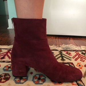 Kenneth Cole Wine Eryc Suede Ankle Boot